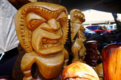 Aloha Stadium Swap Meet, Honolulu Swap Meet, Honolulu life, Honolulu living, tiki totem, tiki statue