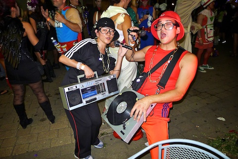 thereafterish, Aloha Tower Halloween Party, alice in wonderland costumes, Hip Hop duo costume