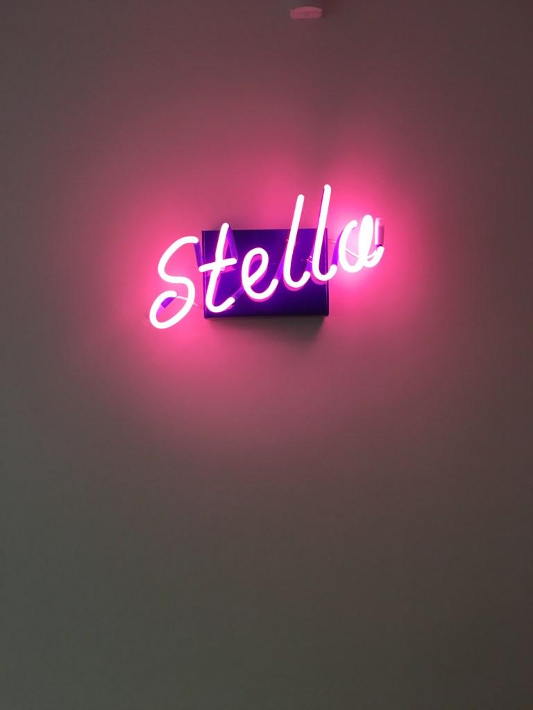 """""""Stella"""" neon sign"""