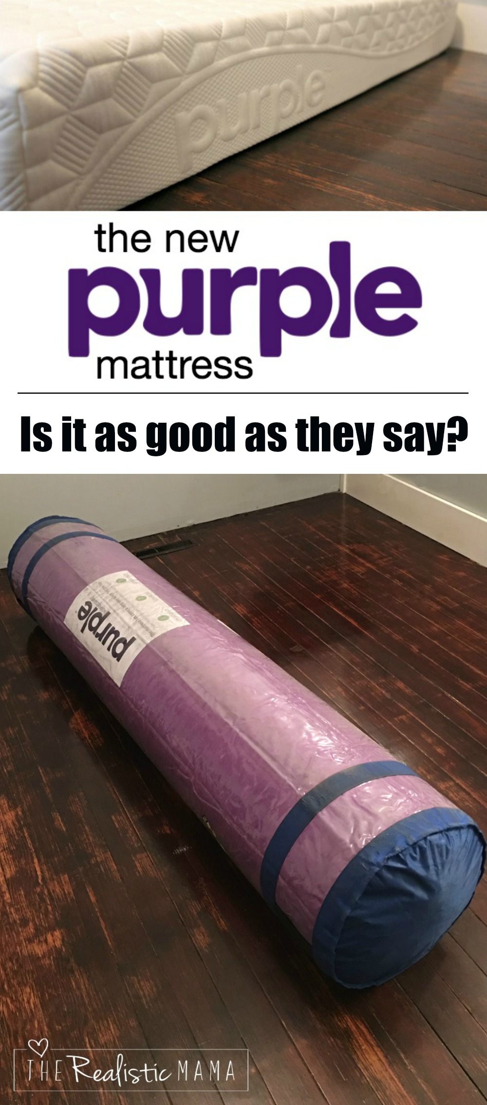 Purple Mattress Review Our New Purple Mattress The Realistic Mama