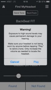 Plantronics BackBeatFit App Safety Warning