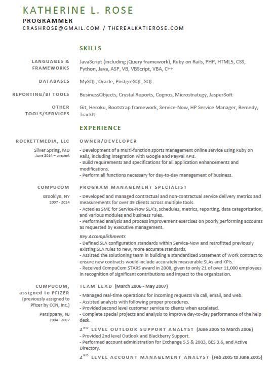 Katie Rose - Resume