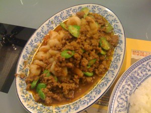 Pad Sator (pork with beans)