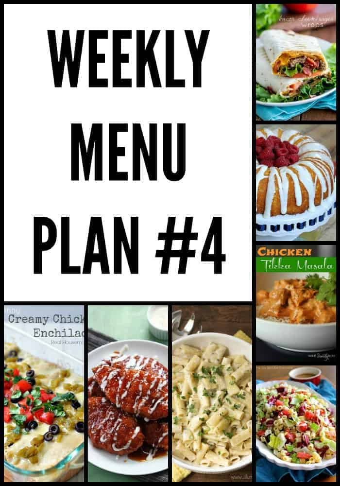 Weekly Menu Plan #4 The Recipe Critic - weekly dinner meal plans