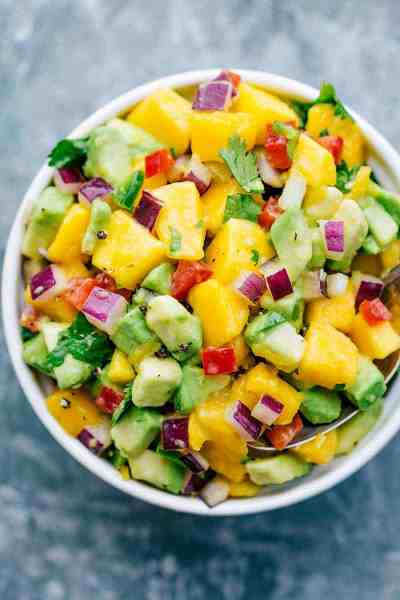 Mango Lime Avocado Salsa | The Recipe Critic