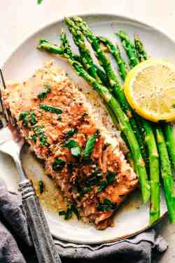 Radiant Garlic Brown Sugar Glazed Salmon Salmon Salmon Steak Recipe Pan Salmon Steak Recipe Skillet This Is Going To Be A Recipe That You Make Again