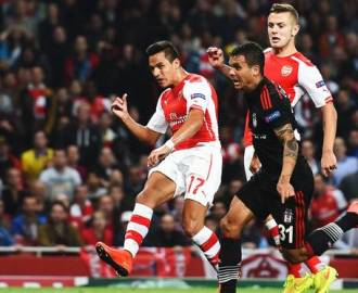 720p-Sanchez - Arsenal v Besiktas report