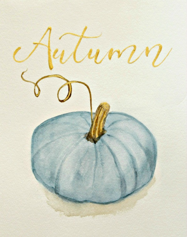 Free Fall Harvest Desktop Wallpaper Blue Pumpkin Printable For Autumn The Red Painted Cottage