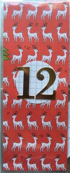 The front of my menu card. I love these reindeer.