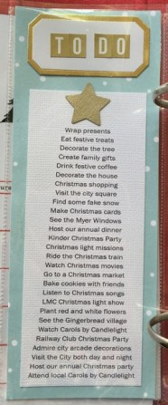To-do list of the things I'd like to do in December. We may not do them all but it also serves as good prompt for photo taking.