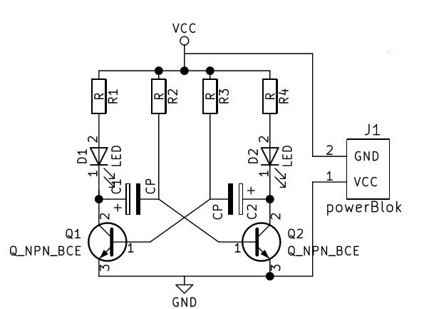 transistor led flasher circuit