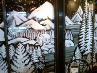 Winter Wonderland Window Painting | Painting from life