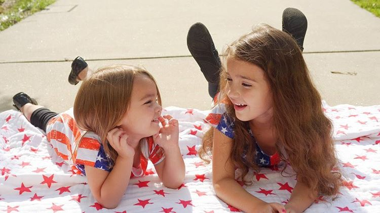 This fourthofjuly share an adenandanais blanket with your favorite friend!hellip