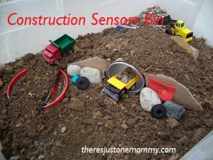 Construction Sensory Bin
