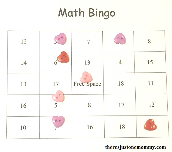 Printable Math Facts Bingo There\u0027s Just One Mommy