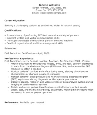 Medical Resume Templates - The Resume Template Site