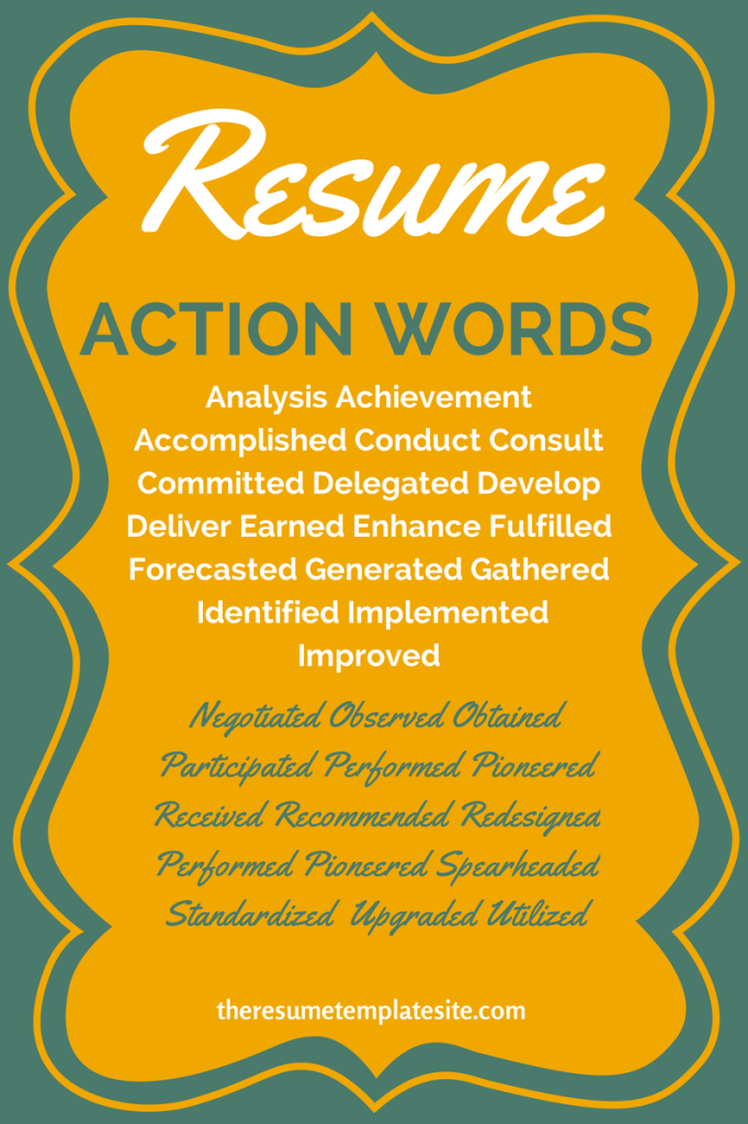 Resume Verbs For Teachers Professional Cover Letter Example Pinterest List  Of Verbs For Kids Resume Action  Resume Verbs For Teachers