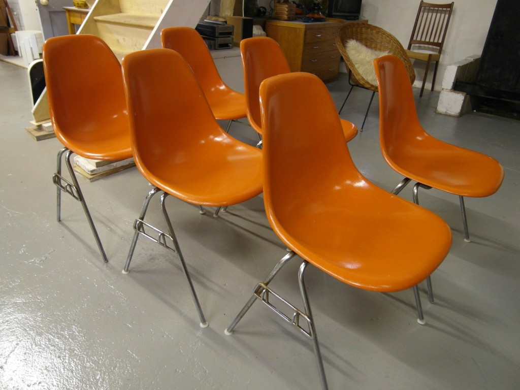 Eames Chairs X6 The Retrobarn » Eames Dsw Shell Chairs By Herman Miller £