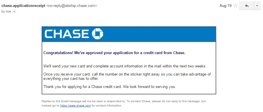 Chase Application Status Check + Tips on Reconsideration Phone Line