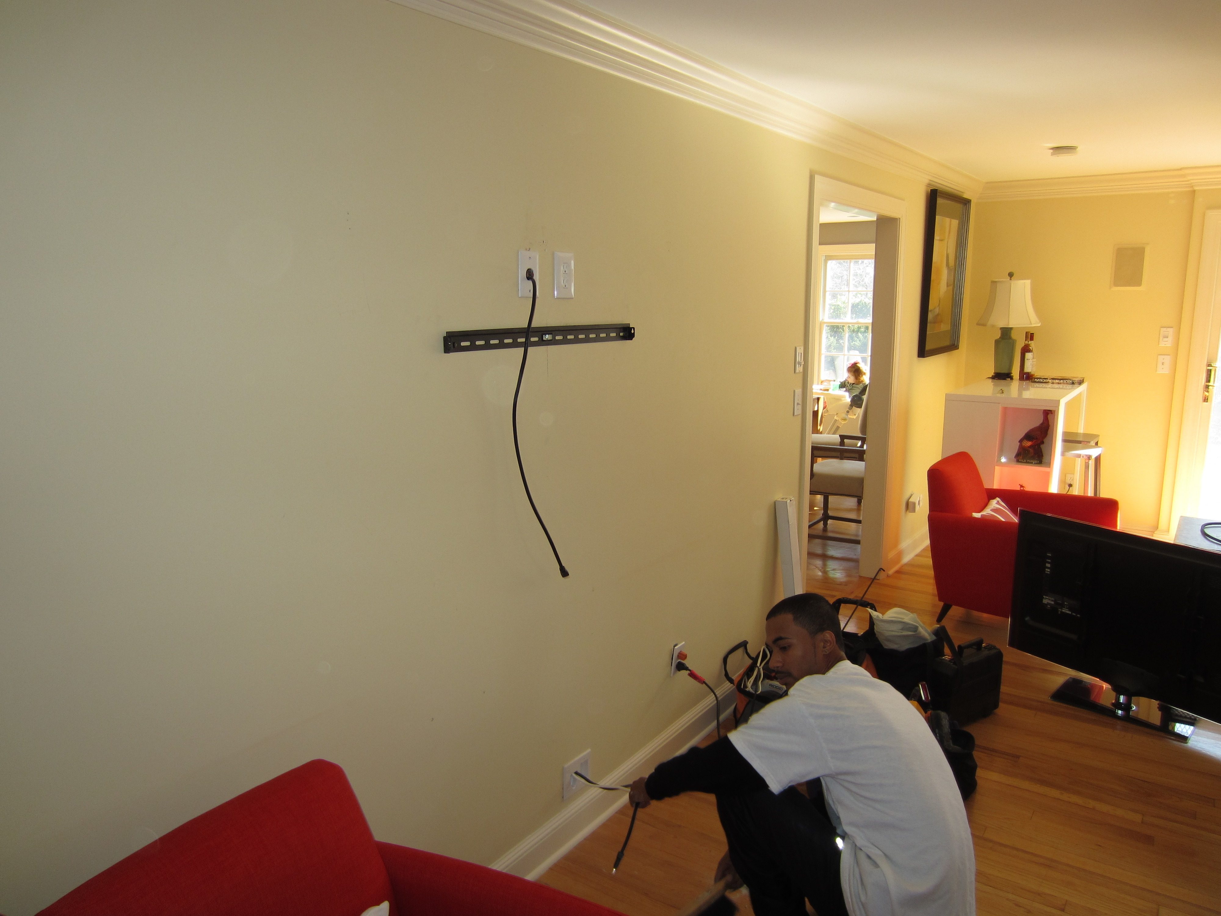 How To Put A Tv On A Wall Newington Ct Mount Tv On Wall Home Theater Installation