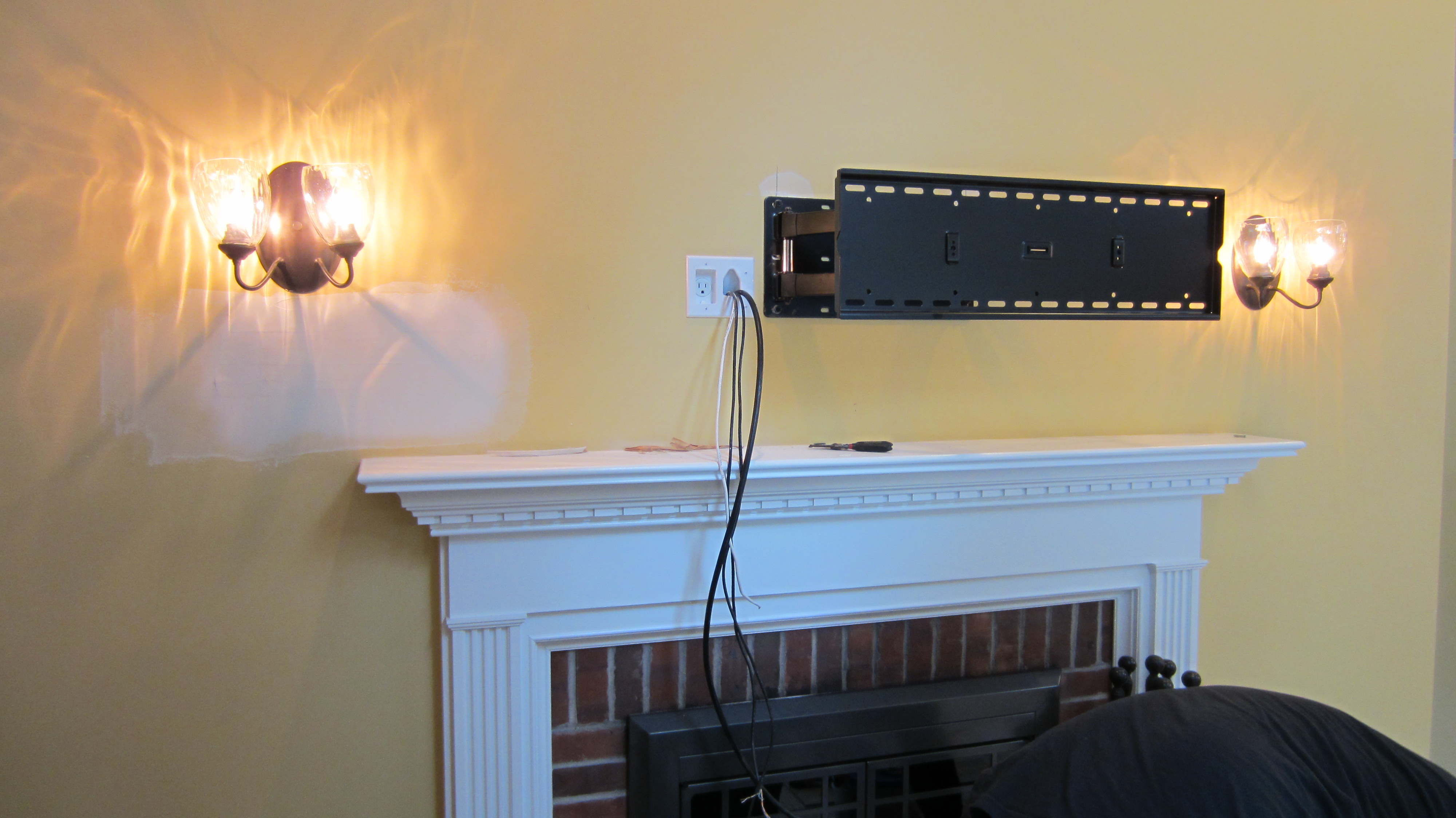Photos Of Tv Mounted Over Fireplace Norwalk Ct Mount Tv Above Fireplace Home Theater