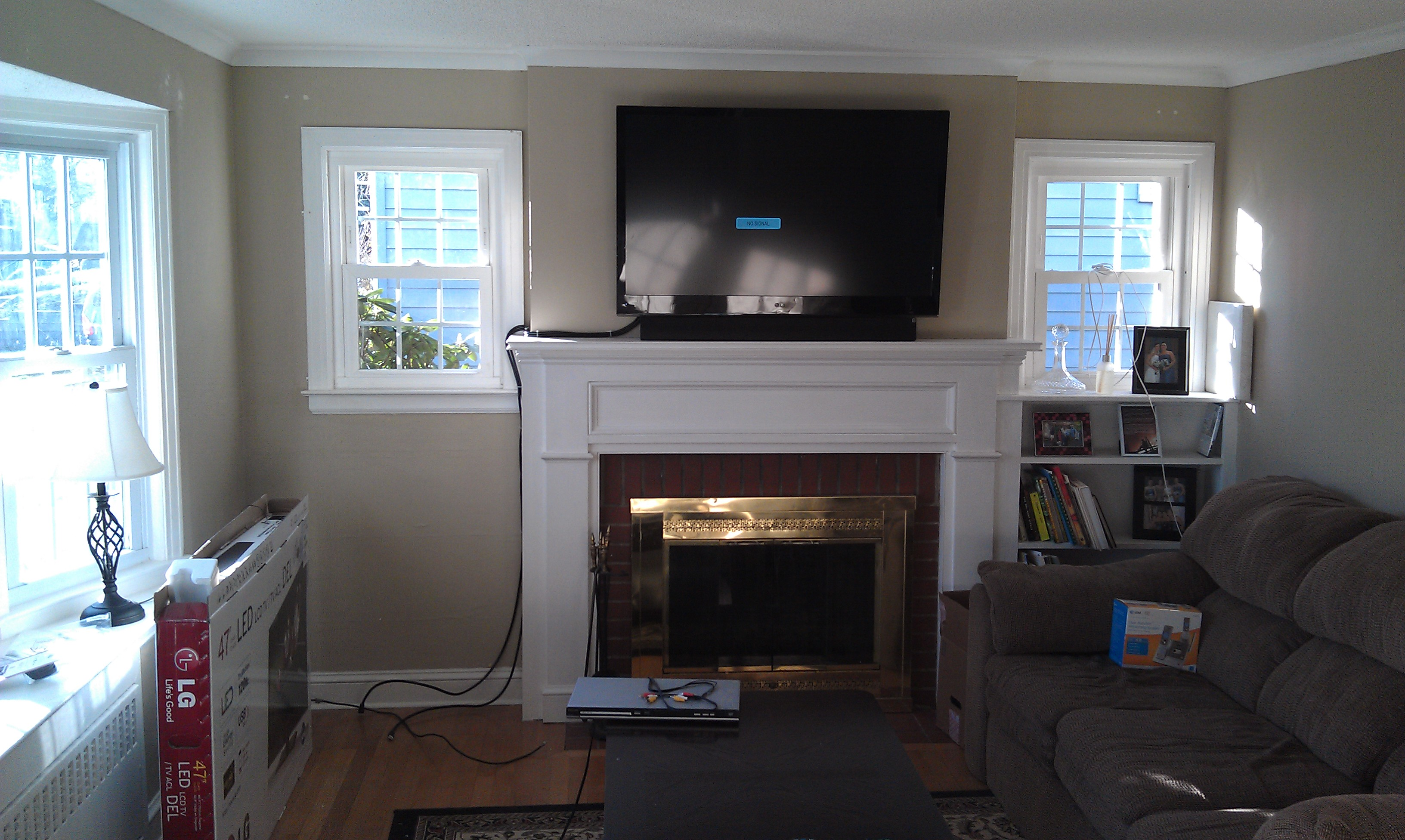 How High To Hang A Tv Wethersfield Ct Mount Tv Above Fireplace Home Theater