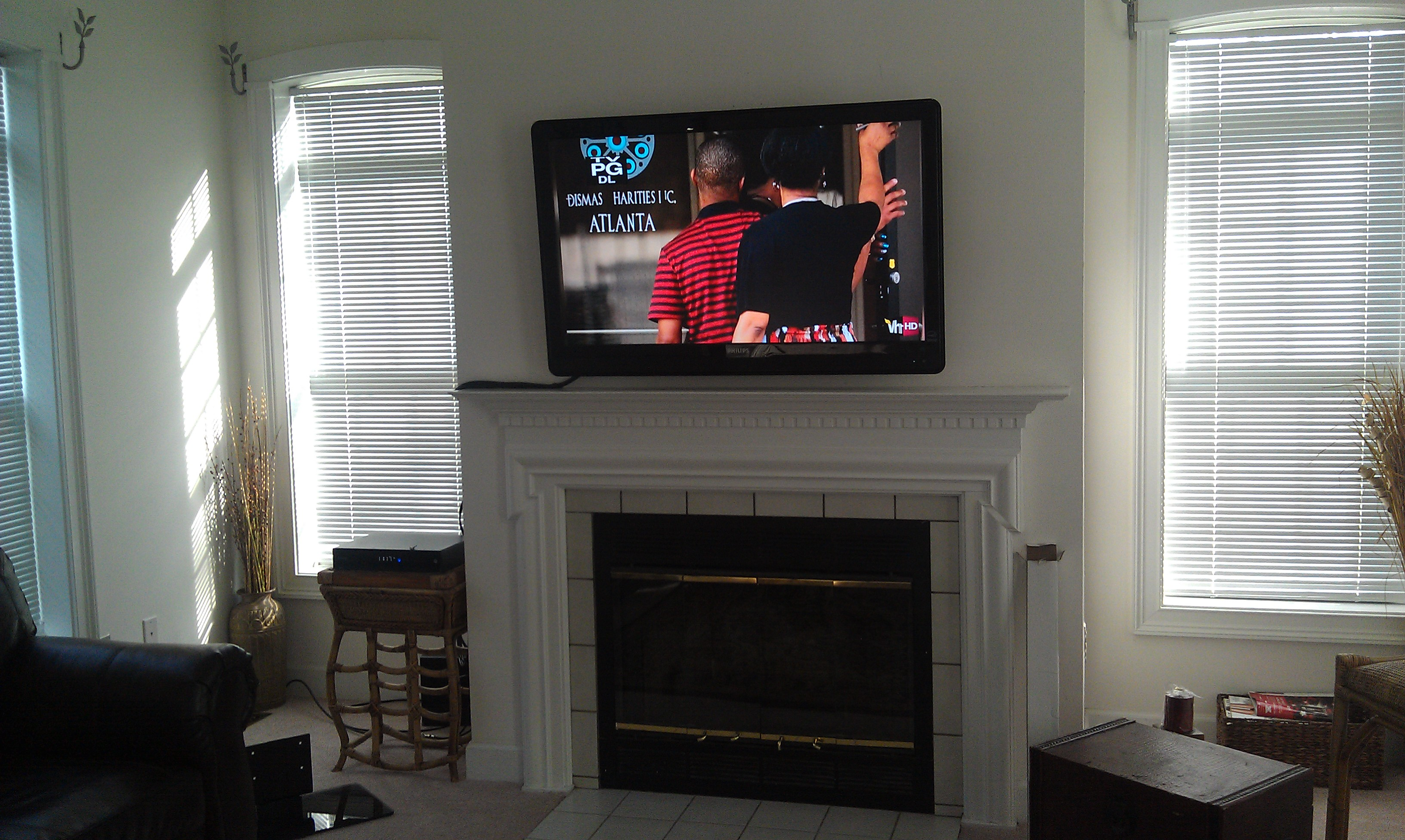 Photos Of Tv Mounted Over Fireplace Richeygroup Home Theater Installation Page 3