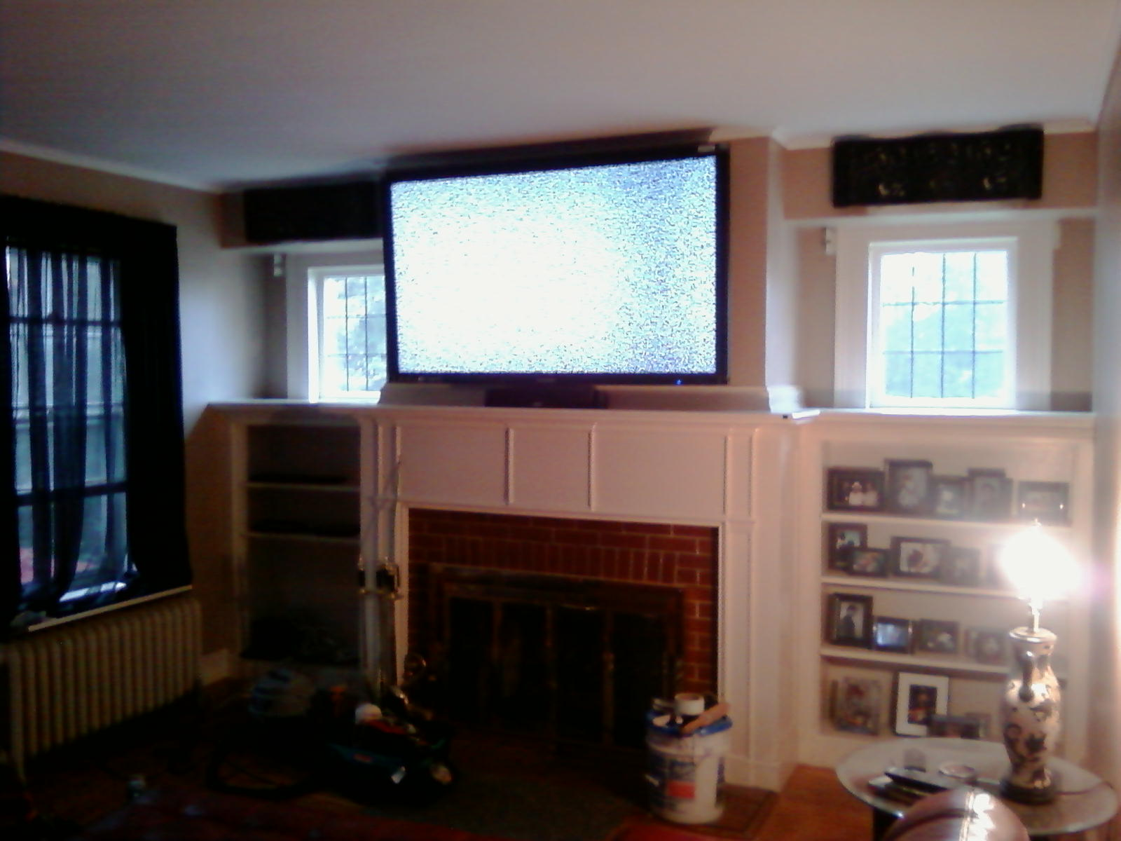Television Over Fireplace Design Cheshire Ct 65 Lcd Tv Over Fireplace Complete Custom Home