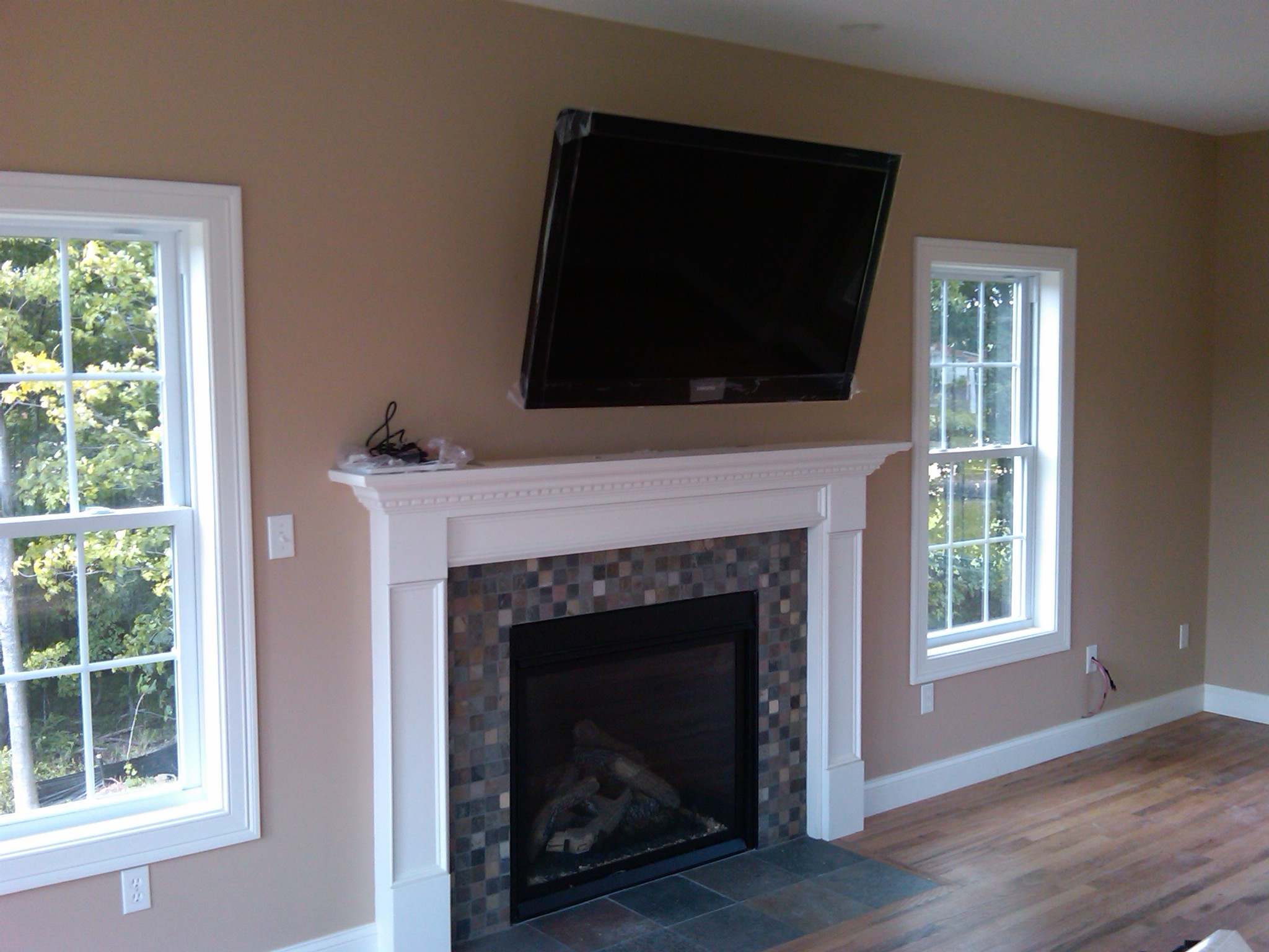 Photos Of Tv Mounted Over Fireplace Tv Over Fireplace Installation Home Theater Installation
