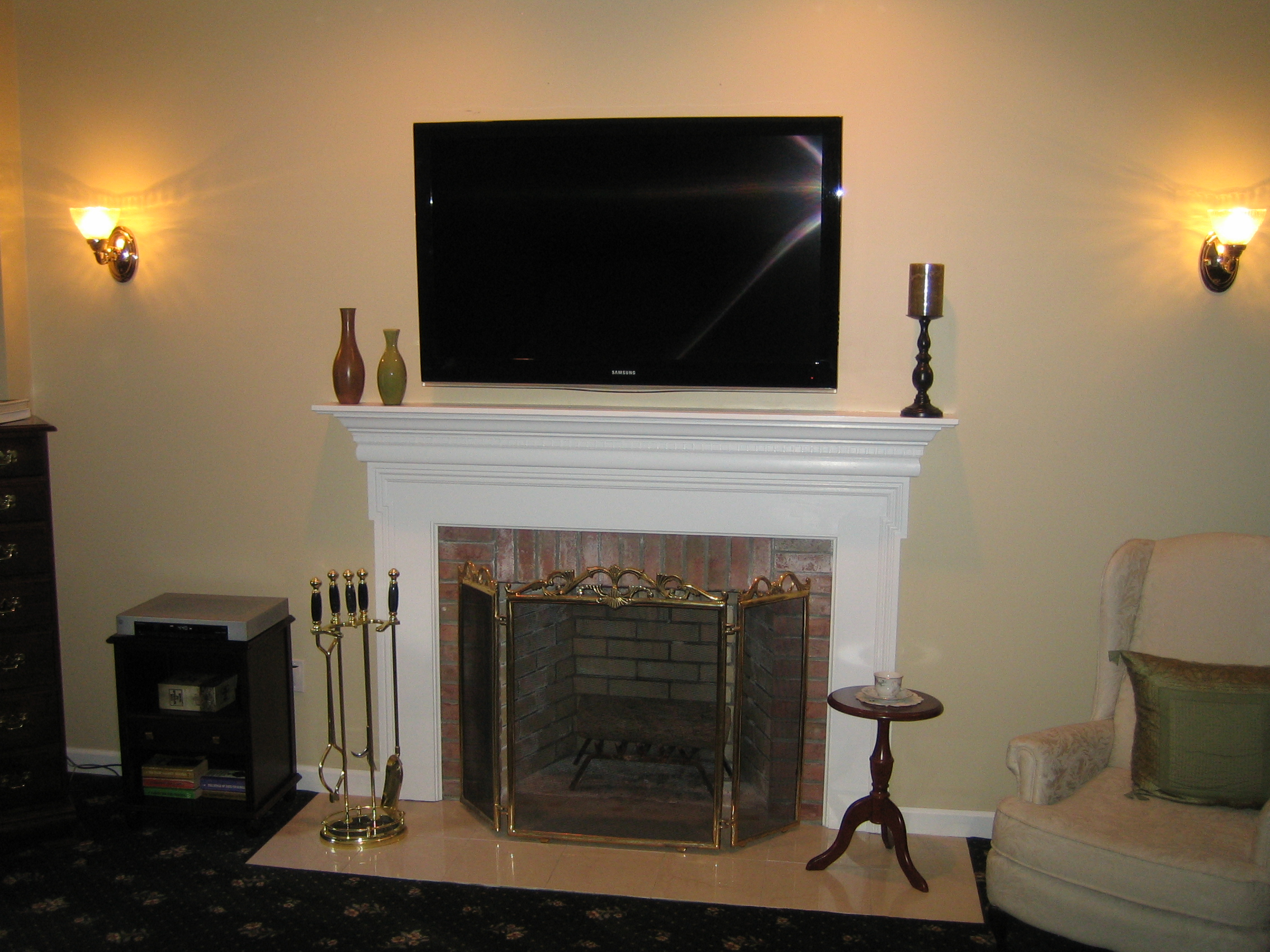 Photos Of Tv Mounted Over Fireplace Clinton Ct Mount Tv Above Fireplace Home Theater