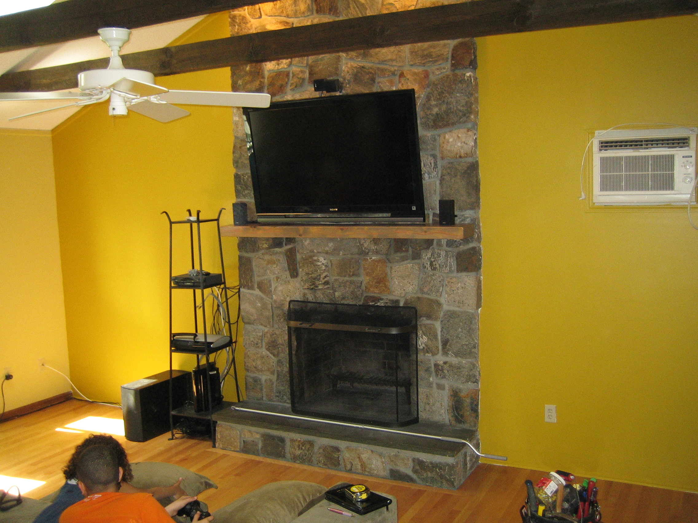 Fireplace Tv Mount How To Mount Tv On Stone Fireplace Om18 Roccommunity