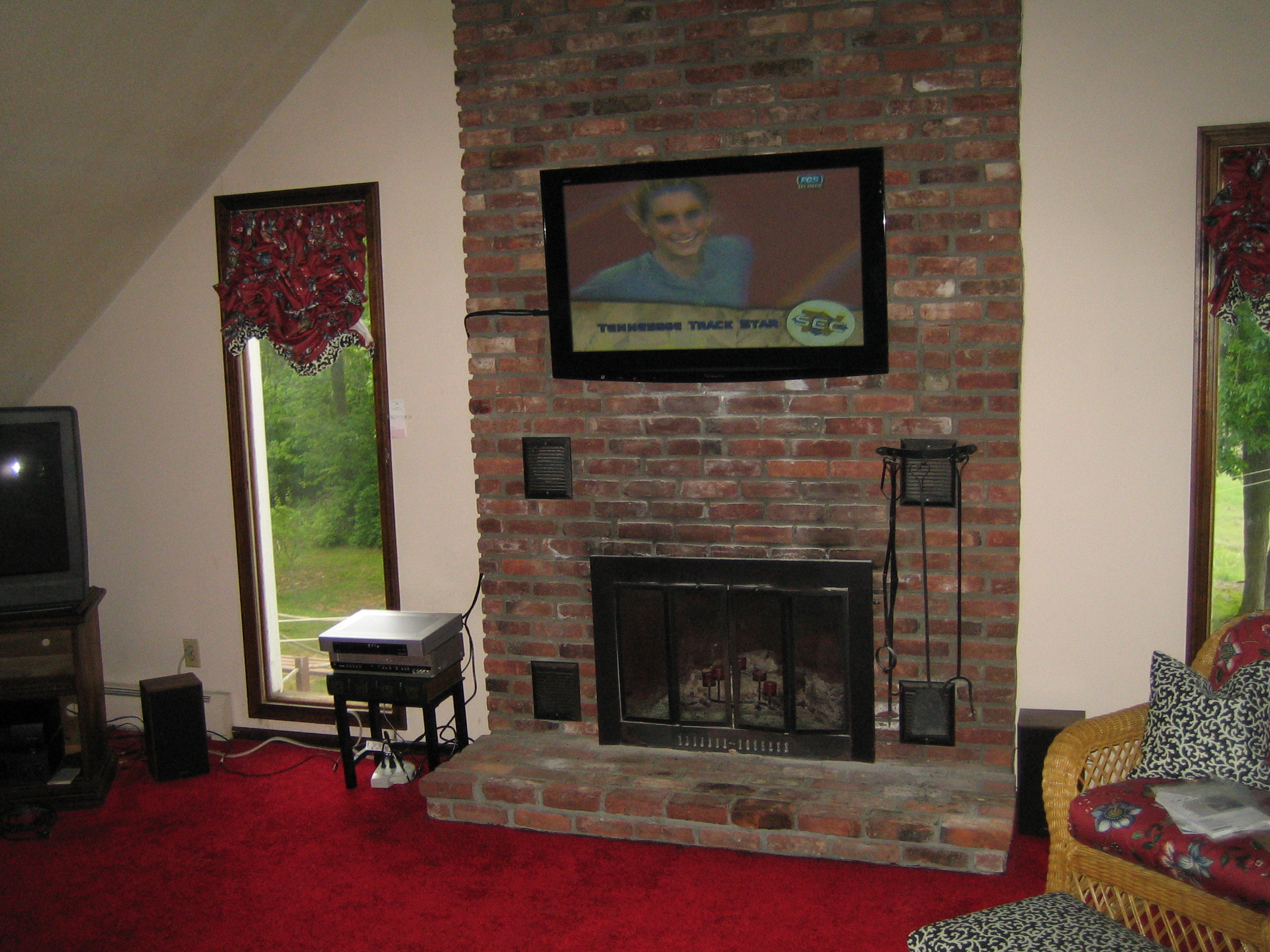 Photos Of Tv Mounted Over Fireplace Durham Ct Mount Tv Above Fireplace Home Theater Installation