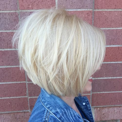 chin-length layered bob