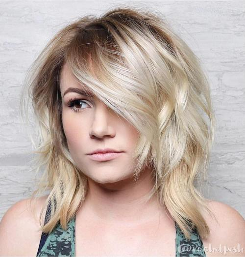 Medium Blonde Layered Hairstyle