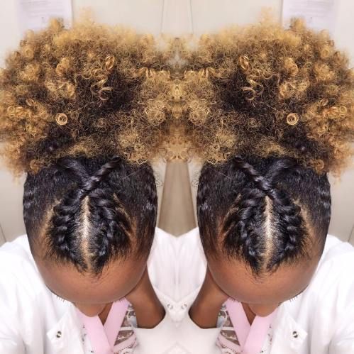 Twisted Afro Puff
