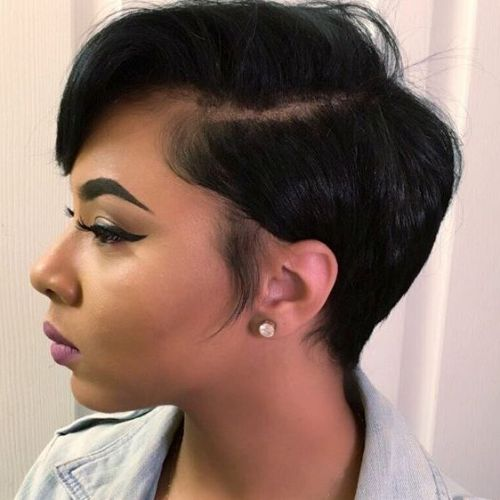 Side-Parted Pixie Bob For Black Women