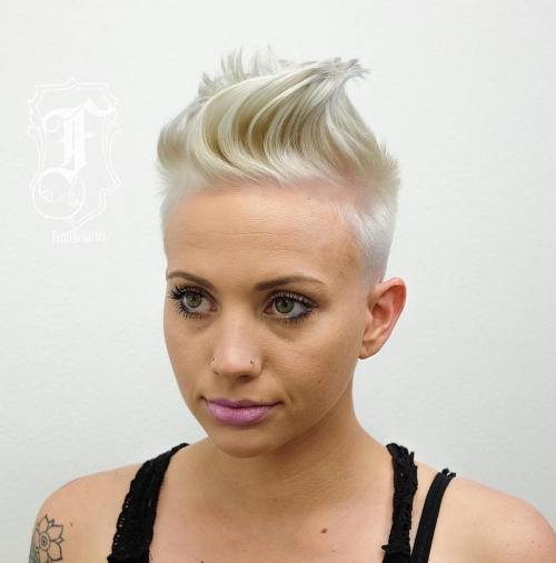 Women's Blonde Mohawk Hairstyle