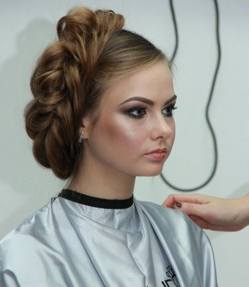 Loose Side Braided Updo