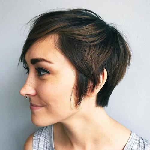 Tapered Pixie With Sideburns