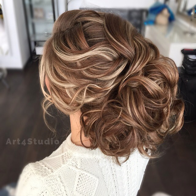 Voluminous Updo For Long Hair