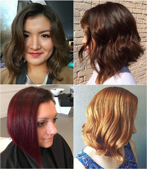 long angled bob haircut for thick hair