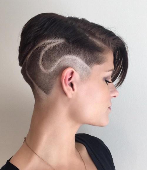 short asymmetrical undercut hairstyle