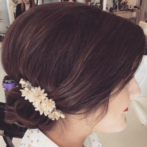 Wedding Chignon For Shorter Hair