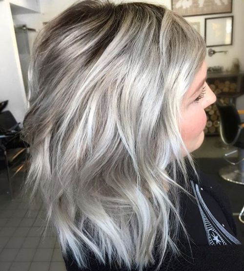 Medium Ash Blonde Layered Haircut