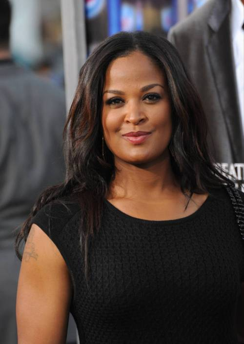 Laila Ali black weave hairstyle