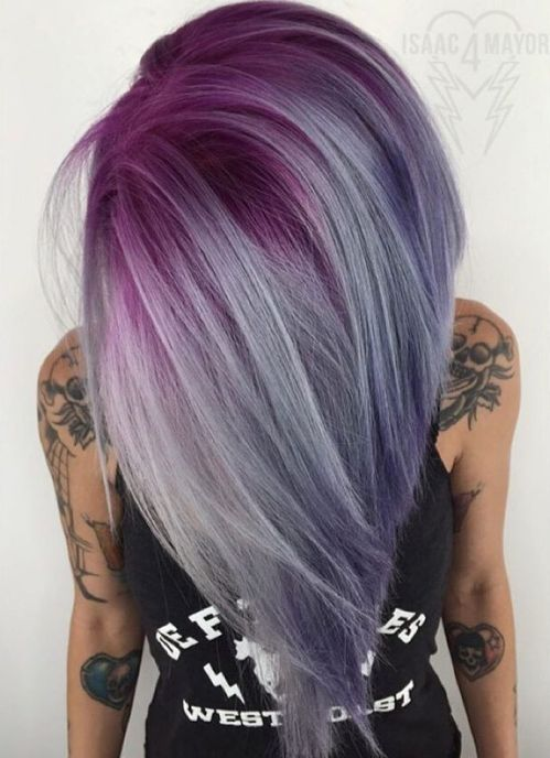 Lavender Long Bob