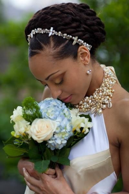 Black bridal natural hairstyles