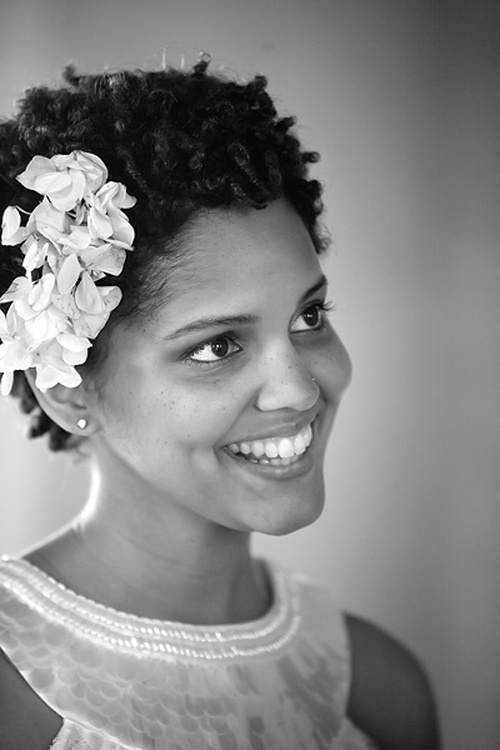 wedding short natural hairstyle
