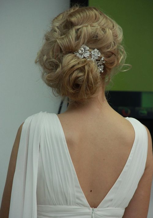 Wavy Prom Updo Hairstyle