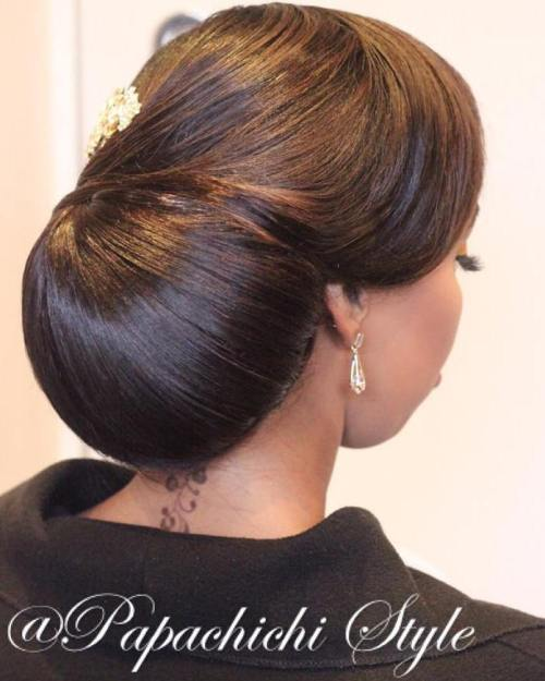 Black Formal Chignon Updo
